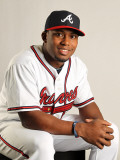 Atlanta Braves Photo Day, LAKE BUENA VISTA, FL - FEBRUARY 21: Mycal Jones Photographic Print by Mike Ehrmann