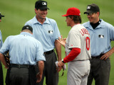 St. Louis Cardinals v Florida Marlins, JUPITER, FL - MARCH 01: Tony La Russa Photographic Print by Marc Serota