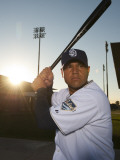 San Diego Padres Photo Day, PEORIA, AZ - FEBRUARY 23: Guilermo Quiroz Photographic Print by Rob Tringali