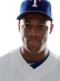 Texas Rangers Photo Day, SURPRISE, AZ - FEBRUARY 25: Adrian Beltre Photographic Print by Jonathan Ferrey