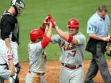 St. Louis Cardinals v Florida Marlins, JUPITER, FL - MARCH 01: Matt Holliday and Ryan Theriot Photographic Print by Marc Serota