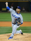 Los Angeles Dodgers v Cincinnati Reds, GOODYEAR, AZ - MARCH 03: Hiroki Kuroda Photographic Print by Norm Hall