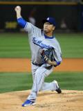 Los Angeles Dodgers v Cincinnati Reds, GOODYEAR, AZ - MARCH 03: Hiroki Kuroda Photographic Print by Norm Hall