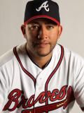 Atlanta Braves Photo Day, LAKE BUENA VISTA, FL - FEBRUARY 21: J.C. Boscan Photographic Print by Mike Ehrmann