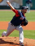 Boston Red Sox v Pittsburgh Pirates, BRADENTON, FL - MARCH 13: Josh Beckett Photographic Print by J. Meric