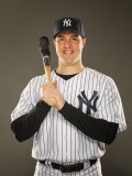 New York Yankees Photo Day, TAMPA, FL - FEBRUARY 23: Mark Teixeira Photographic Print by Al Bello
