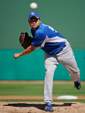 Kansas City Royals v Chicago Cubs, MESA, AZ - MARCH 09: Bruce Chen Photographic Print by Kevork Djansezian