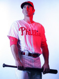 Philadelphia Phillies Photo Day, CLEARWATER, FL - FEBRUARY 22: Chase Utley Photographic Print by Nick Laham