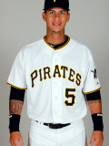 Pittsburgh Pirates Photo Day, BRADENTON, FL - FEBRUARY 20: Ronny Cedeno Photographic Print by J. Meric