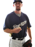Milwaukee Brewers Photo Day, MARYVALE, AZ - FEBRUARY 24: Mike McClendon Photographic Print by Jonathan Ferrey
