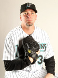 Florida Marlins Photo Day, JUPITER, FL - FEBRUARY 23: Randy Choate Photographic Print by Mike Ehrmann