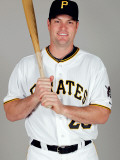 Pittsburgh Pirates Photo Day, BRADENTON, FL - FEBRUARY 20: Matt Diaz Photographic Print by J. Meric