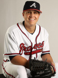 Atlanta Braves Photo Day, LAKE BUENA VISTA, FL - FEBRUARY 21: Kris Medlen Photographic Print by Mike Ehrmann