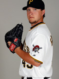 Pittsburgh Pirates Photo Day, BRADENTON, FL - FEBRUARY 20: Sean Gallagher Photographic Print by J. Meric