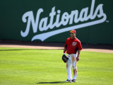 Florida Marlins v Washington Nationals, VIERA, FL - MARCH 02: Ryan Zimmerman Fotografie-Druck von Mike Ehrmann