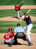 Cincinnati Reds v Colorado Rockies, SCOTTSDALE, AZ - MARCH 14: Aroldis Chapman Photographic Print by Kevork Djansezian