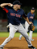 Boston Red Sox v Minnesota Twins, FORT MYERS, FL - FEBRUARY 27: Kevin Youkilis Photographic Print by J. Meric