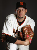 San Francisco Giants Photo Day, SCOTTSDALE, AZ - FEBRUARY 23: Jonathan Sanchez Photographic Print by Ezra Shaw