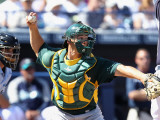 Oakland Athletics v Seattle Mariners, PEORIA, AZ - MARCH 12: Anthony Recker Photographic Print by Christian Petersen