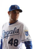 Kansas City Royals Photo Day, SURPRISE, AZ - FEBRUARY 23: Joakim Soria Photographic Print by Jonathan Ferrey