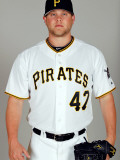 Pittsburgh Pirates Photo Day, BRADENTON, FL - FEBRUARY 20: Evan Meek Photographic Print by J. Meric