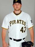 Pittsburgh Pirates Photo Day, BRADENTON, FL - FEBRUARY 20: Evan Meek Photographic Print by J. Meric