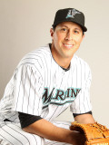 Florida Marlins Photo Day, JUPITER, FL - FEBRUARY 23: Brian Sanches Photographic Print by Mike Ehrmann