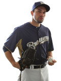 Milwaukee Brewers Photo Day, MARYVALE, AZ - FEBRUARY 24: Zach Braddock Photographic Print by Jonathan Ferrey