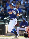 Cincinnati Reds v Texas Rangers, SURPRISE, AZ - MARCH 11: Ian Kinsler Photographic Print by Christian Petersen