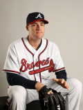 Atlanta Braves Photo Day, LAKE BUENA VISTA, FL - FEBRUARY 21: Cory Gearrin Photographic Print by Mike Ehrmann