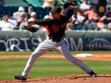 Baltimore Orioles v Pittsburgh Pirates, BRADENTON, FL - FEBRUARY 28: Clay Rapada Photographic Print by J. Meric