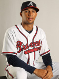 Atlanta Braves Photo Day, LAKE BUENA VISTA, FL - FEBRUARY 21: Anthony Vavaro Photographic Print by Mike Ehrmann