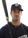 Milwaukee Brewers Photo Day, MARYVALE, AZ - FEBRUARY 24: Ryan Braun Photographie par Jonathan Ferrey