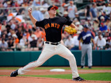 Milwaukee Brewers v San Francisco Giants, SCOTTSDALE, AZ - MARCH 14: Matt Cain Photographic Print by Kevork Djansezian
