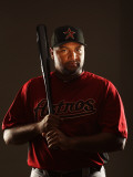 Houston Astros Photo Day, KISSIMMEE, FL - FEBRUARY 24: Carlos Lee Photographic Print by Al Bello