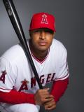 Los Angeles Angels of Anaheim Photo Day, TEMPE, AZ - FEBRUARY 21: Vernon Wells Photographic Print by Rob Tringali
