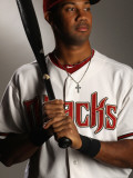Arizona Diamondbacks Photo Day, SCOTTSDALE, AZ - FEBRUARY 21: Chris Young Photographie par Ezra Shaw