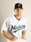 Florida Marlins Photo Day, JUPITER, FL - FEBRUARY 23: Brett Hayes Photographic Print by Mike Ehrmann