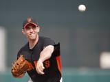 Arizona Diamondbacks v San Francisco Giants, SCOTTSDALE, AZ - FEBRUARY 25: Madison Bumgarner Photographic Print by Rob Tringali