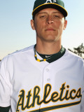 Oakland Athletics Photo Day, PHOENIX, AZ - FEBRUARY 24: Ryan Sweeney Photographic Print by Ezra Shaw
