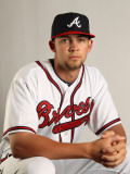 Atlanta Braves Photo Day, LAKE BUENA VISTA, FL - FEBRUARY 21: Mike Minor Photographic Print by Mike Ehrmann