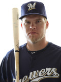 Milwaukee Brewers Photo Day, MARYVALE, AZ - FEBRUARY 24: Corey Hart Photographic Print by Jonathan Ferrey