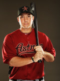 Houston Astros Photo Day, KISSIMMEE, FL - FEBRUARY 24: Brett Wallace Photographic Print by Al Bello