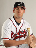 Atlanta Braves Photo Day, LAKE BUENA VISTA, FL - FEBRUARY 21: Ed Lucas Photographic Print by Mike Ehrmann
