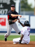 Atlanta Braves v New York Mets, PORT ST. LUCIE, FL - FEBRUARY 26: Brooks Conrad and Jose Reyes Photographic Print by Marc Serota