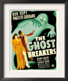 Ghost Breakers, Paulette Goddard, Bob Hope on Window Card, 1940 Print