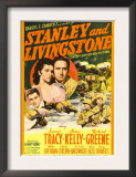 Stanley and Livingstone, Richard Greene, Nancy Kelly, Spencer Tracy on Midget Window Card, 1939 Prints