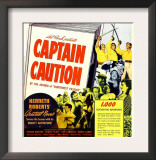Captain Caution, Window Card, 1940 Print