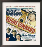 Flight Command, Walter Pidgeon, Robert Taylor, Ruth Hussey, Robert Taylor on Window Card, 1940 Posters