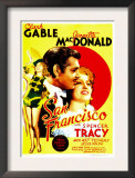 San Francisco, Jeanette Macdonald, Clark Gable, Jeanette Macdonald on Midget Window Card, 1936 Art